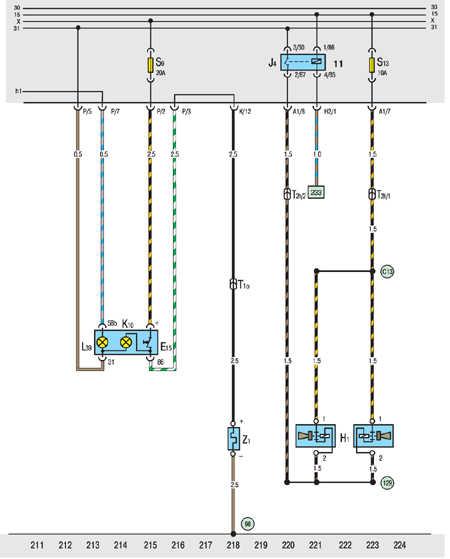 Предохранитель сигнала фольксваген транспортер т4 транспортер ленточный наклонный своими руками