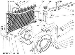 Радиатор с электровентилятором и расширительным бачком
