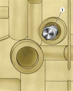 Расположение сливного отверстия системы охлаждения двигателя мод. 331